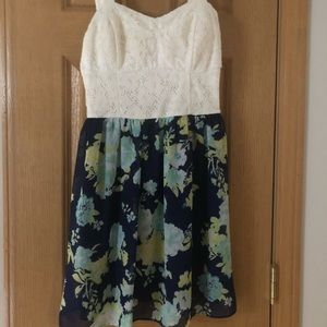 Lace and Floral Dress